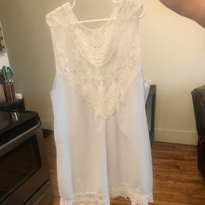Tops - White Lacey Blouse NEW